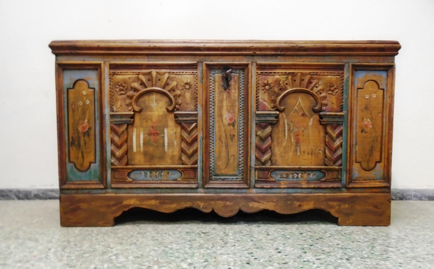 Cassapanca dipinta -prov. Austria  Antichità Evelina - Vendita mobili antichi tirolesi