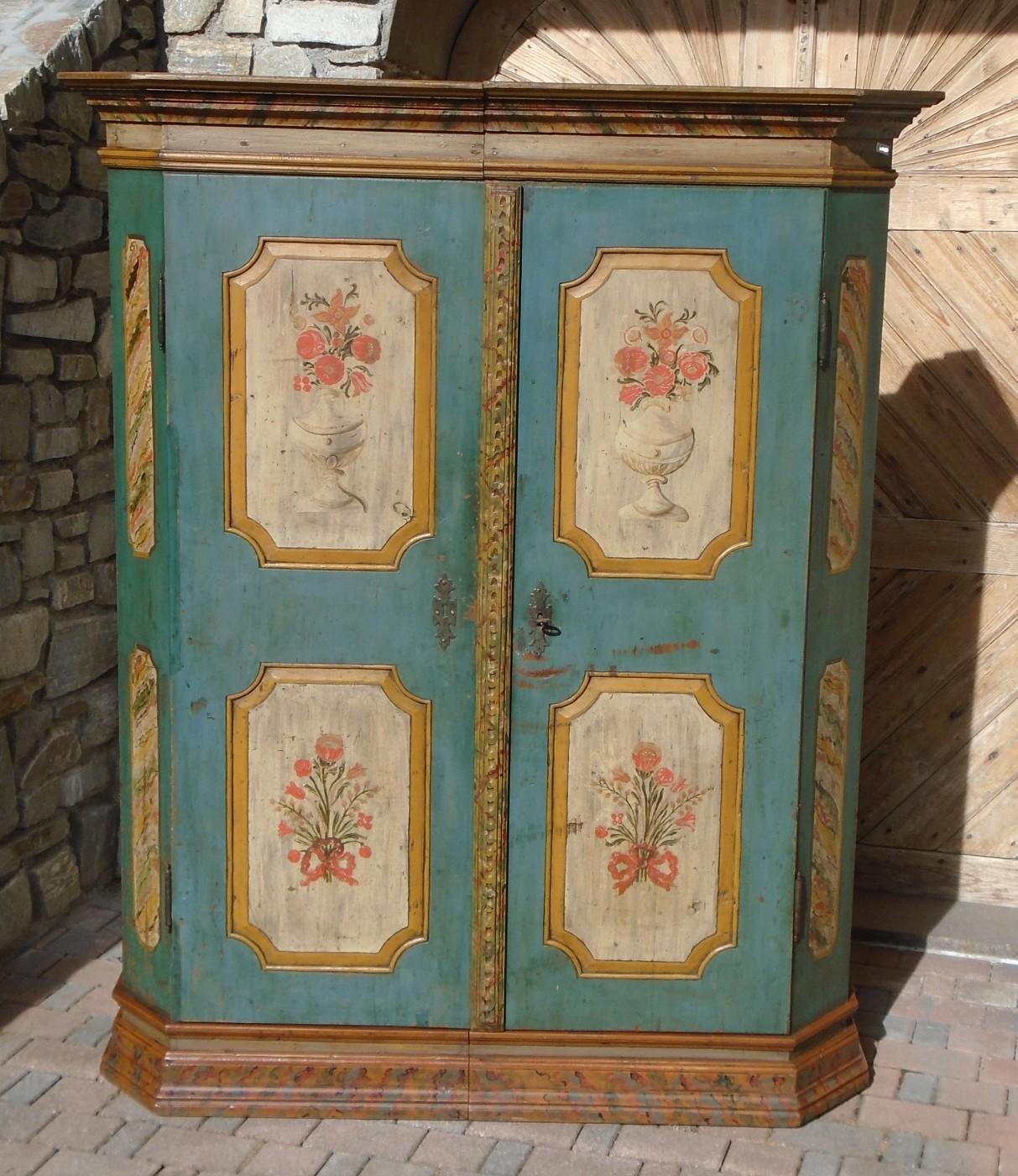 Armadio dipinto prov alto adige antichit evelina vendita mobili antichi tirolesi - Riconoscere mobili antichi ...