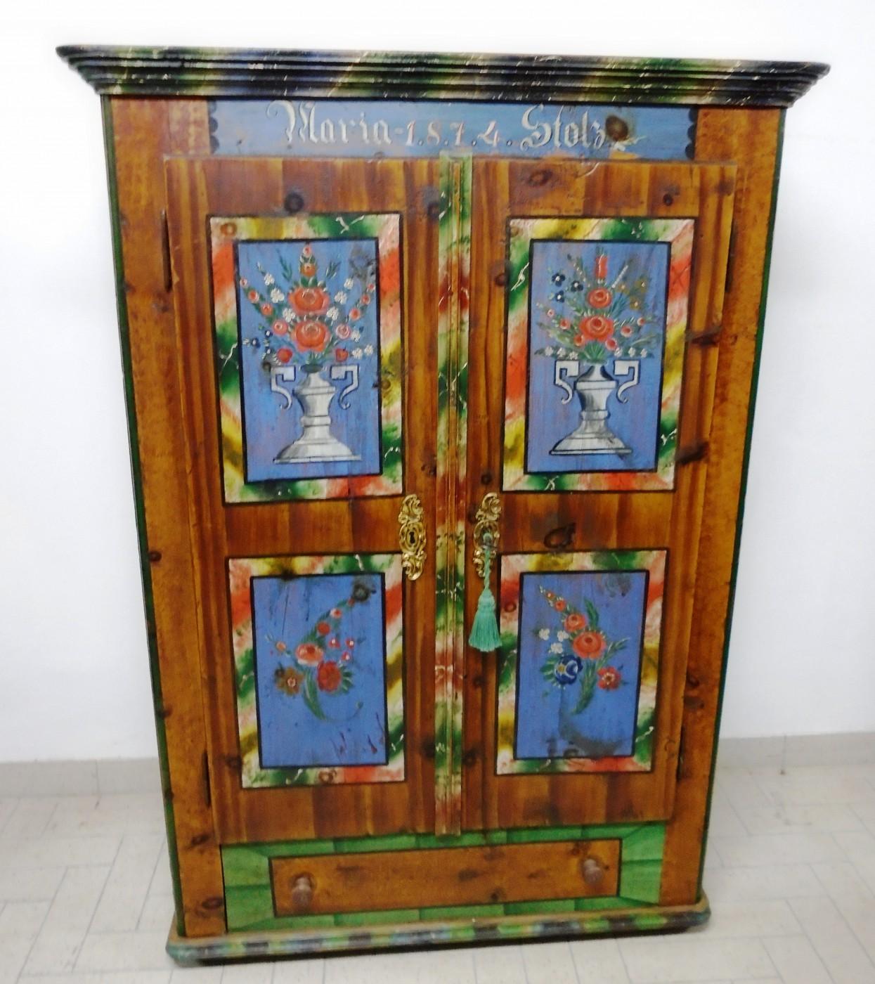 Armadi Tirolesi Dipinti armadio dipinto -prov. molltaler | antichità evelina